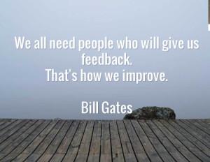 Bill Gates Feedback